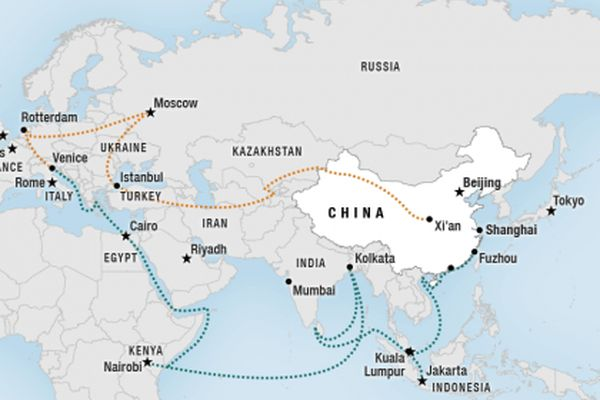 New silk road how china will change the economic map of the world gumiabroncs Choice Image